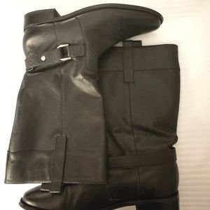 Ellen Tracy black leather riding boots